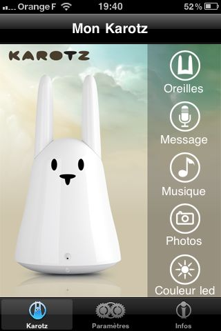Contrôlez votre Karotz avec l'application iPhone Karotz Controller
