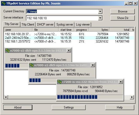 TFTPD32, un serveur TFTP gratuit et simple d'utilisation