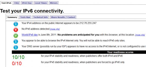 Tester si vous êtes prêt pour l'IPv6