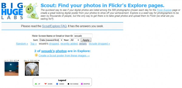 Find photos in Flickr: Explore! with Big Huge Labs