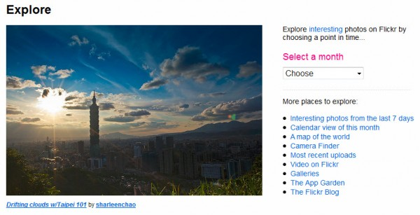 Flickr : Explore!