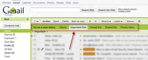 Gmail : changez le style de votre Inbox