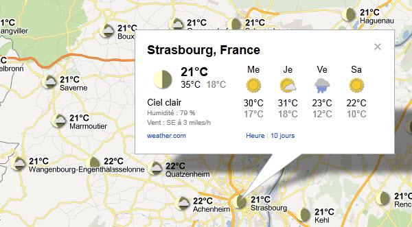 La météo des prochains jours sur Strasbourg