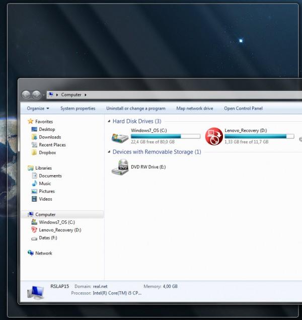 Astuce Windows 7 : pousser une fenêtre vers le bord de l'écran