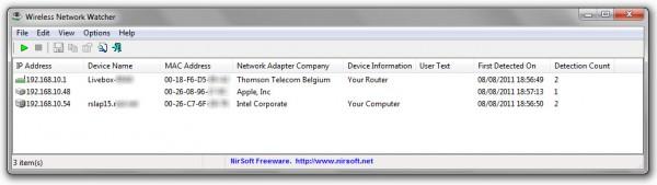 Découvrez qui est connecté à votre réseau Wifi avec Wireless Network Watcher
