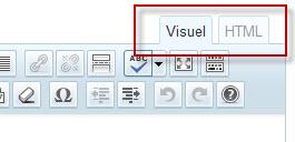 Choix de l'éditeur de texte sur wordpress : visuel ou html