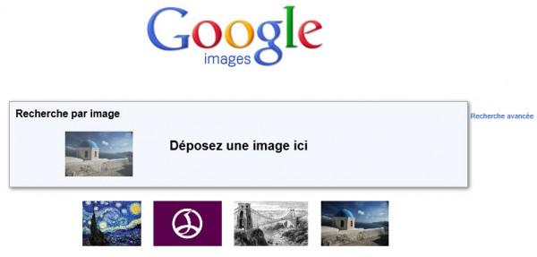 Glisser déposer dans Google Images