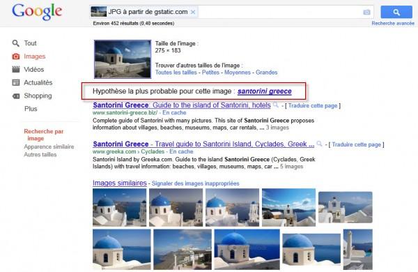Résultats de Google Images