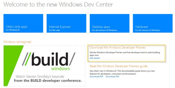 Windows Dev Center