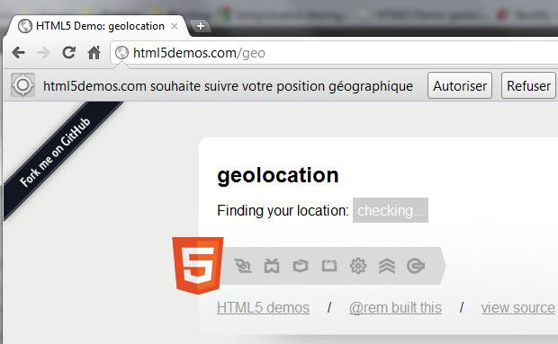 Partager sa localisation sur Google Chrome (HTML5)