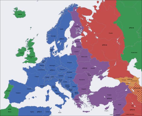UTC : Temps Universel Coordonné en Europe