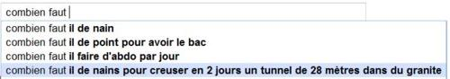 Gag + Google = Gaggle, les meilleures suggestions de Google