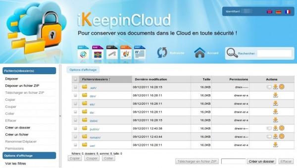 Stockage en ligne iKeepinCloud
