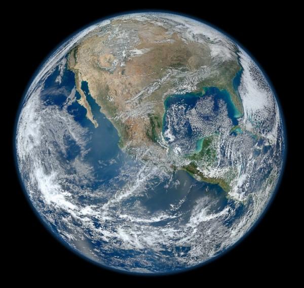 Photo de la Terre en haute résolution sur le site de la Nasa