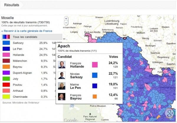 Election présidentielle 2012 : résultats par communes
