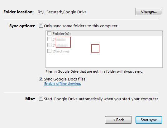 Google Drive : paramètres avancés