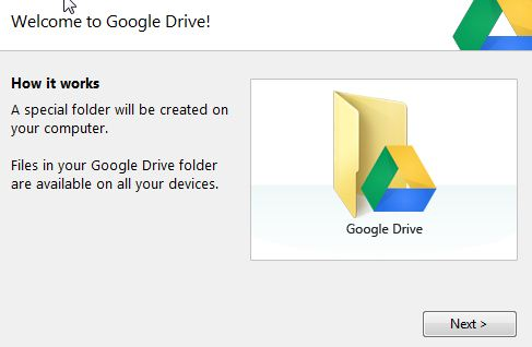 Google Drive : étape 1