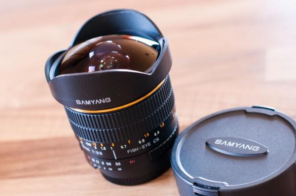 Objectif Samyang 8mm fisheye