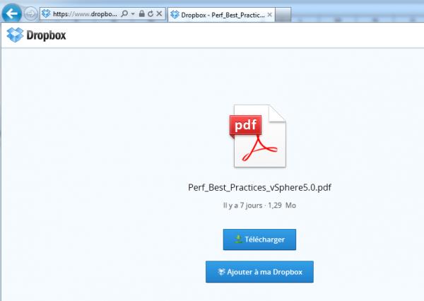 Lien direct pour accéder à vos fichiers sur Dropbox