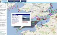 Carte interactive du trafic maritime en temps réel
