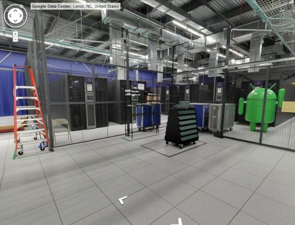 Datacenter Google : robot pour la sauvegarde sur bande
