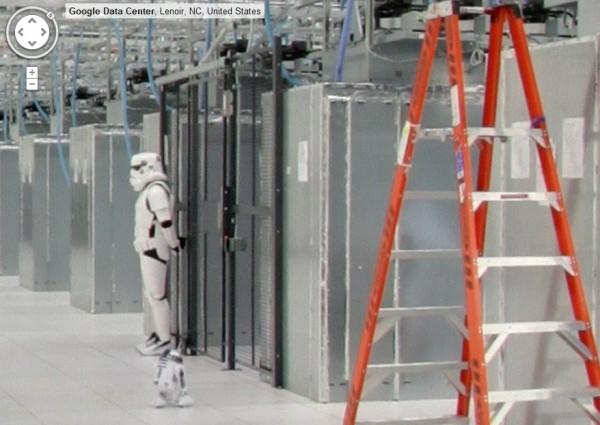 Un Stormtrooper monte la garde dans un datacenter de Google