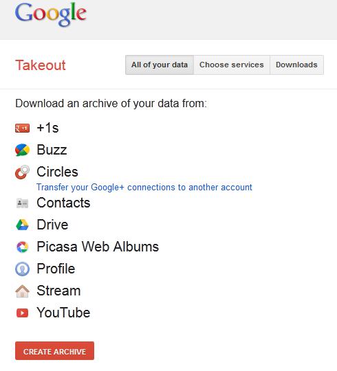 Exporter vos données et vos documents de Google avec Google Takeout