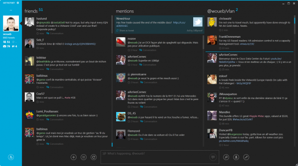MetroTwit : client Twitter pour Windows