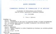 La nouvelle terminologie française : cédérom autonome, flux de dépêches et autres !