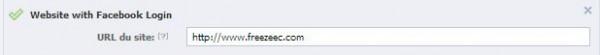 Application Facebook : URL de votre site